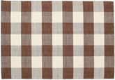 Check Kilim - Brown / White carpet CVD18352