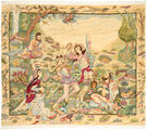Tabriz 50 Raj with silk carpet AXVZZZY224