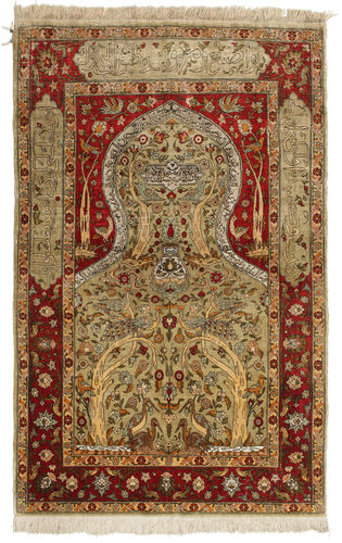 Herike silk Gold carpet OVA5