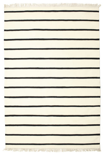Dhurrie Stripe - White / Black carpet CVD1661