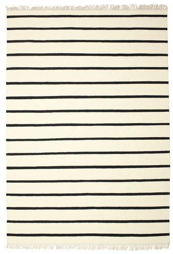 Dhurrie Stripe - White / Black carpet CVD1662