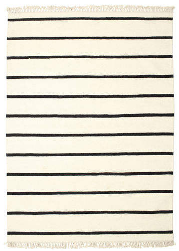 Dhurrie Stripe - White / Black carpet CVD1663