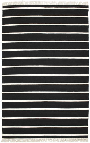 Dhurrie Stripe - Black / White rug CVD5204