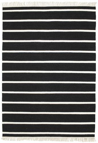 Dhurrie Stripe - Black / White carpet CVD5207