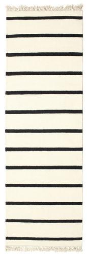 Tapis Dhurrie Stripe - Blanc / Noir CVD1659