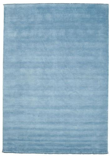 Handloom fringes - Light Blue carpet CVD5419