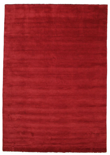 Handloom fringes - Dark Red rug CVD5248