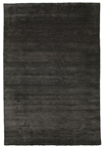 ハンドルーム fringes - 黒 / グレー 絨毯 CVD5470