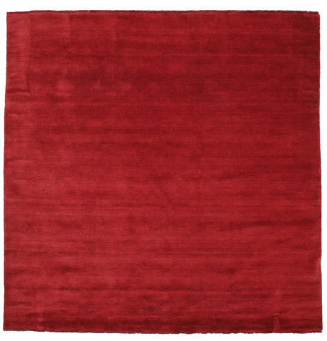 Handloom fringes - Dark Red rug CVD5255