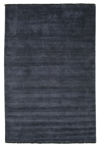 Handloom fringes - Dark Blue carpet CVD5449