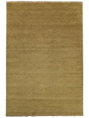 Handloom fringes - olivengrøn tæppe CVD5349