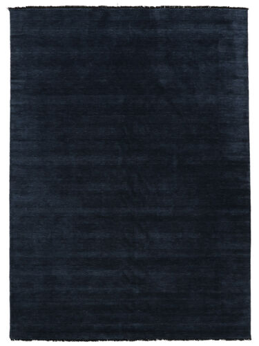 Handloom fringes - Dark Blue carpet CVD5448