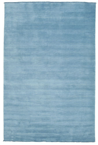 Handloom fringes - Light Blue carpet CVD5423