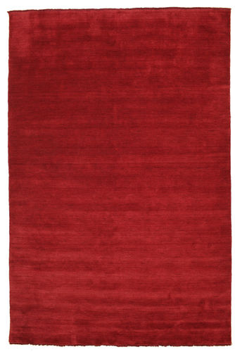 Tappeto Handloom fringes - Rosso scuro CVD5253