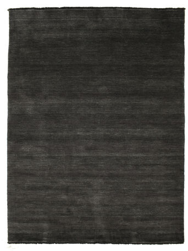 Handloom fringes - Black / Grey carpet CVD5478