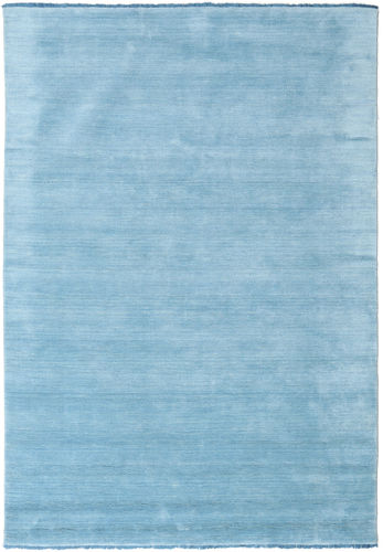 Handloom fringes - Light Blue carpet CVD5428