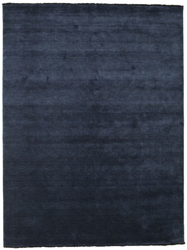 Handloom fringes - Dark Blue carpet CVD5447