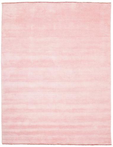 Tapis Handloom fringes - Rose CVD5307