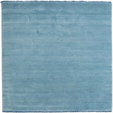 Handloom fringes - Light Blue rug CVD5427