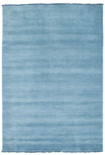 Handloom fringes - Light Blue rug CVD5429