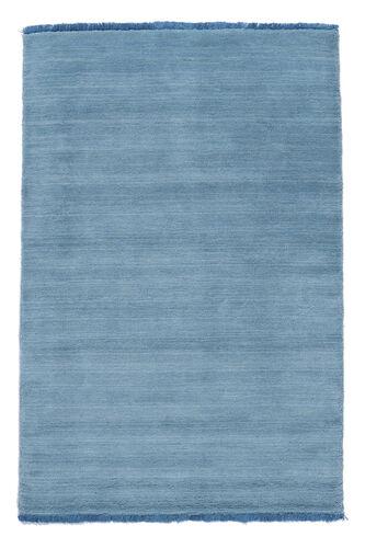 ハンドルーム fringes - 水色 絨毯 CVD5429