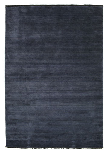 Handloom fringes - Dark Blue rug CVD5454