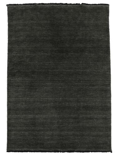 Handloom fringes - Zwart / Grijs tapijt CVD5479