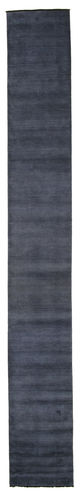 Tapis Handloom fringes - Bleu foncé CVD5459