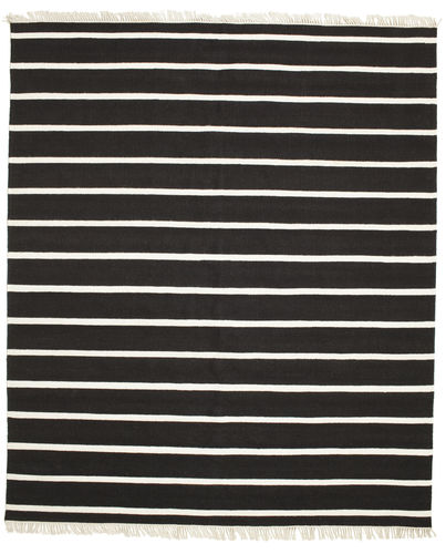 Dhurrie Stripe - Black / White carpet CVD5797