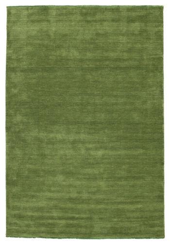 Handloom fringes - Green rug CVD5275