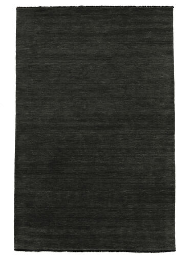 Handloom fringes - Black / Grey carpet CVD5469