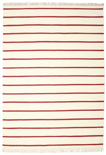 Dorri Stripe - Weiß / Rot Teppich CVD3972