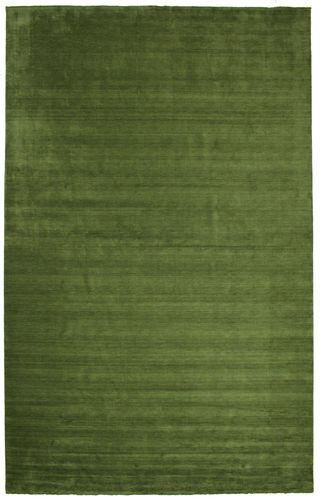 Handloom fringes - Dark Green rug CVD5266