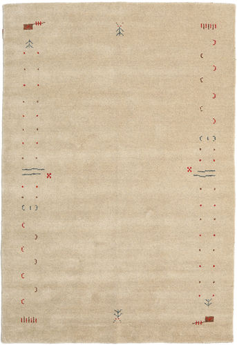 Gabbeh Loom Frame - Mørk beige teppe CVD5792