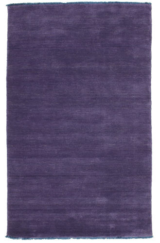 Handloom fringes - Purple rug CVD7675