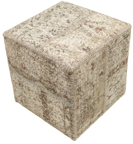 patchwork hocker ottoman 50x50 rugvista. Black Bedroom Furniture Sets. Home Design Ideas