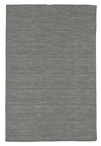 Kelim loom - Mørk grå teppe CVD9140