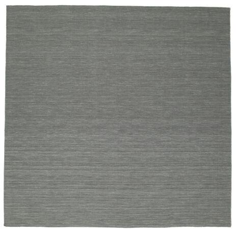 Kelim loom - dunkelgrau Teppich CVD9124