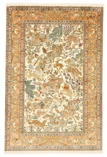 Tappeto Cachemire puri di seta figurale XVZC430
