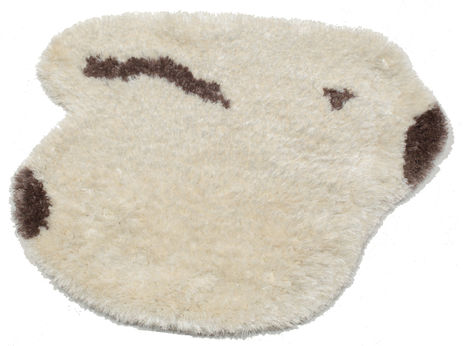 Funny-Bunny Promo - White / Brun teppe CVD7147
