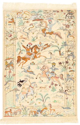 Ghom selyem szőnyeg XVZH22