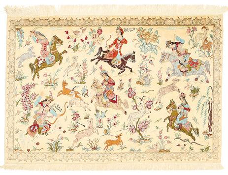 Qum silk carpet XVZI19
