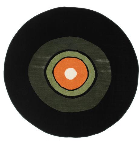 Koberec Schallplatte Flatweave - Zelená / Oranžová CVD12255