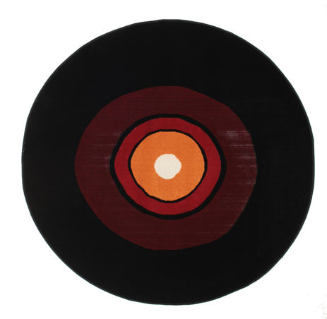 Alfombra Schallplatte Flatweave - Rojo / naranja CVD12251