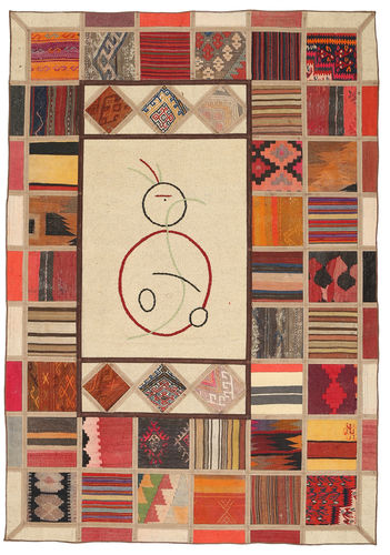Kilim Patchwork carpet XVZQ60