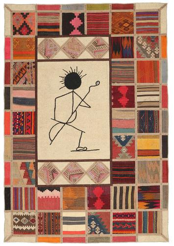 Kelim Patchwork tapijt XVZQ67