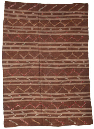 Kilim semi antique Turkish carpet XCGZF1359