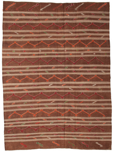Kilim semi antique Turkish carpet XCGZF1354