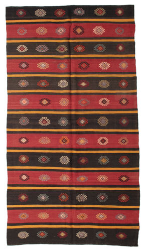 Kilim semi antique Turkish carpet XCGZF977