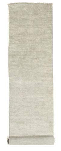 Handloom fringes - Grey / Light Green carpet CVD13989